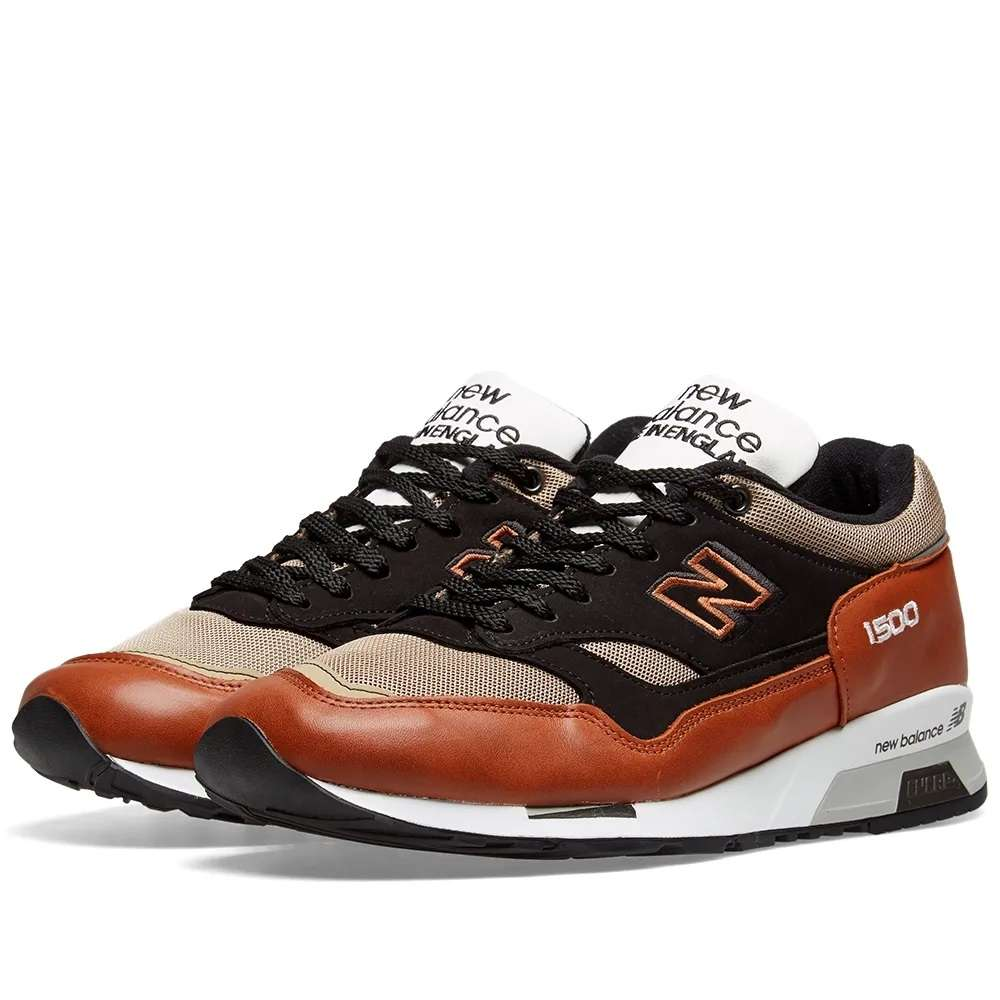 new style 6ee9e ffce9 Details about New Balance M1500TBT - Made in England Tan & Black Sneakers