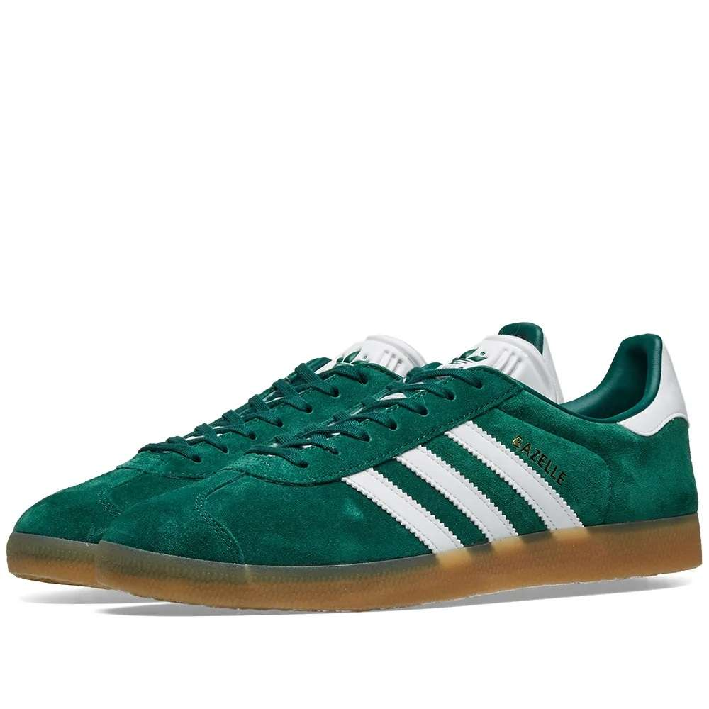 Details about Adidas Gazelle Core Green, White & Gum DA8872 Sneakers