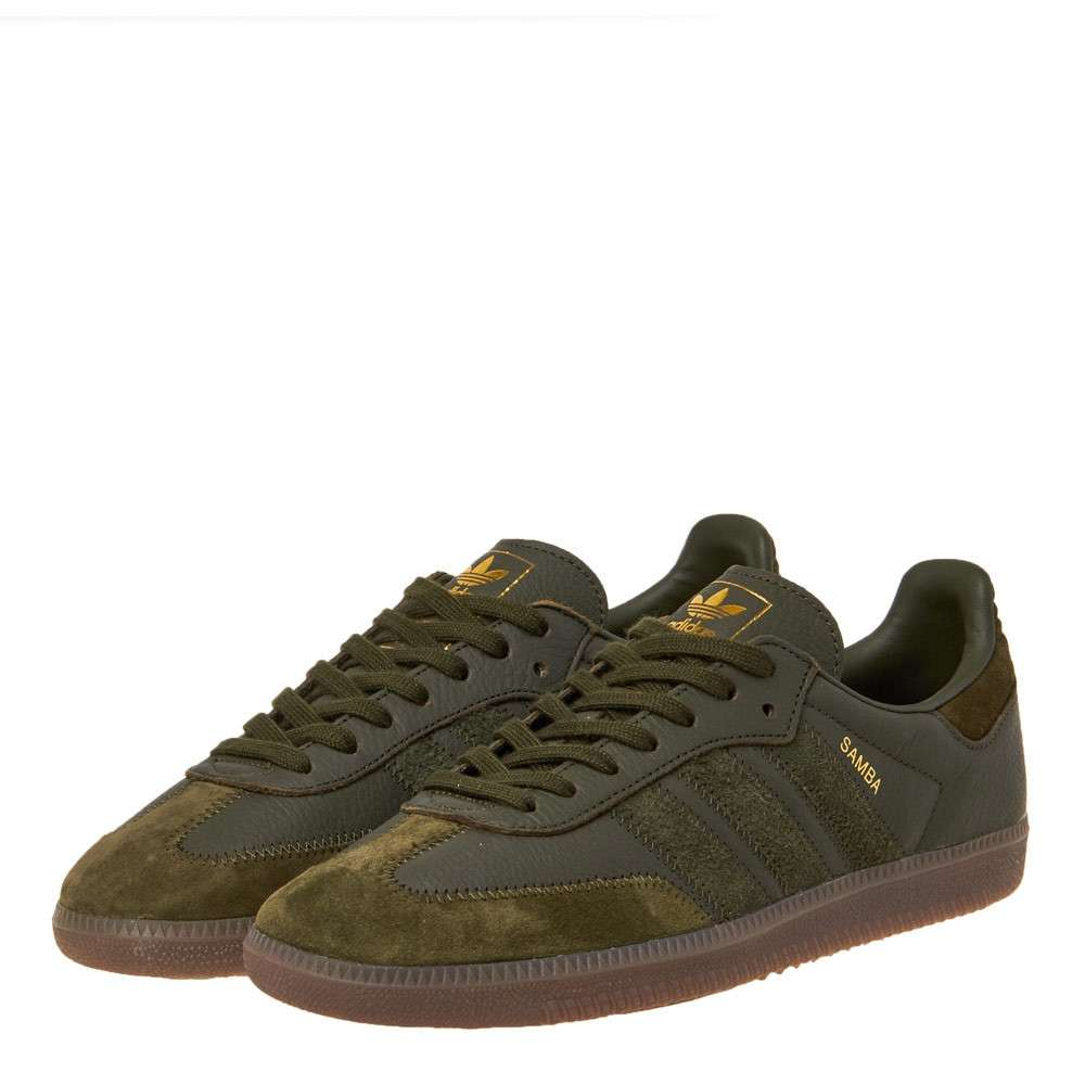 Details about Adidas Samba Og ft Night Cargo & Gold Met BD7526 Sneakers