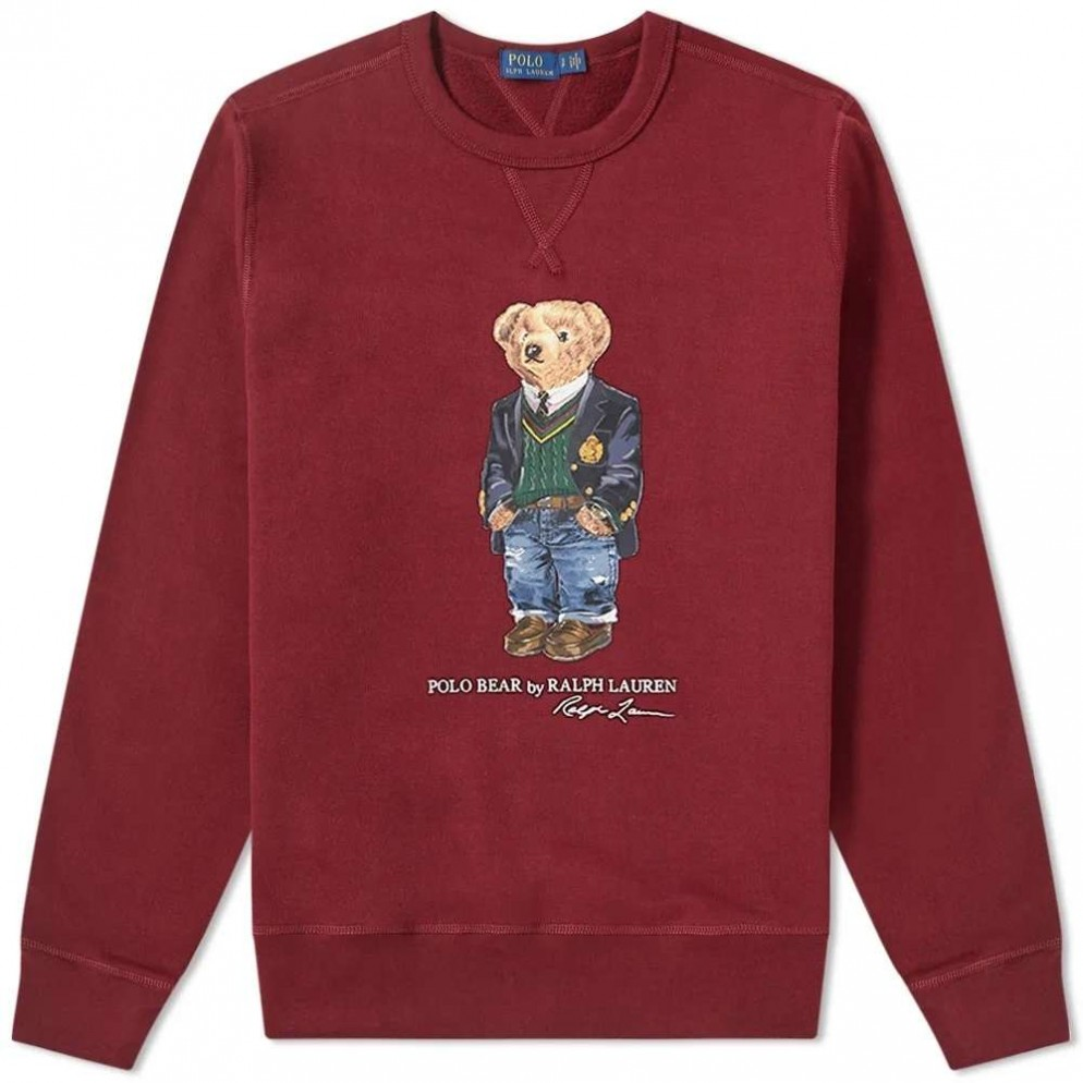 SUDADERA POLO RALPH LAUREN LONG SLEEVE KNIT WE ARE STRAP