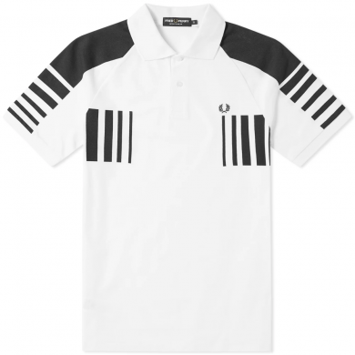 Fred Perry Block Graphic Pique Polo White