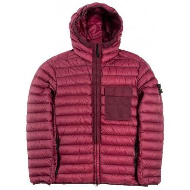 Stone Island 40524 Garment Dyed Micro Yarn Down Jacket Burgundy
