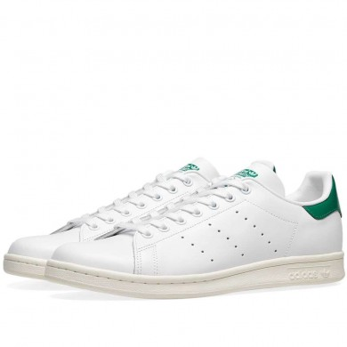 Adidas Stan Smith FTWR White, Off White & Bold Green