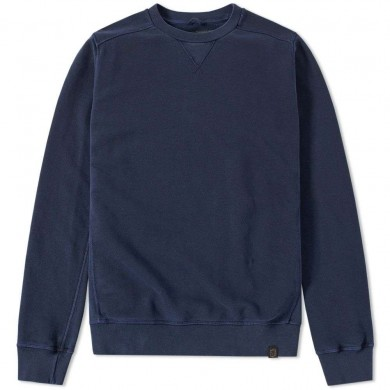 Nemen Garment Dyed Crew Sweat Deep Navy