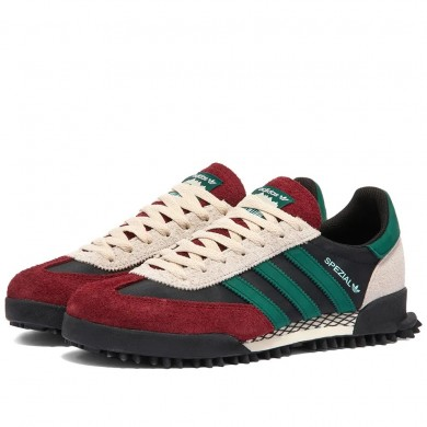 Adidas Handball Spezial TR Black, Green & Burgundy