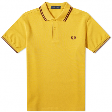 Fred Perry Slim Fit Twin Tipped Polo Gold