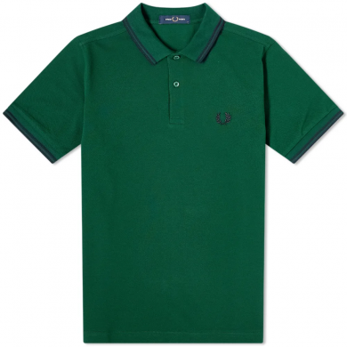 Fred Perry Slim Fit Twin Tipped Polo Ivy & Navy