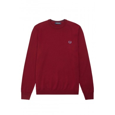 Fred Perry Authentic Classic Crew Knit Dark Red