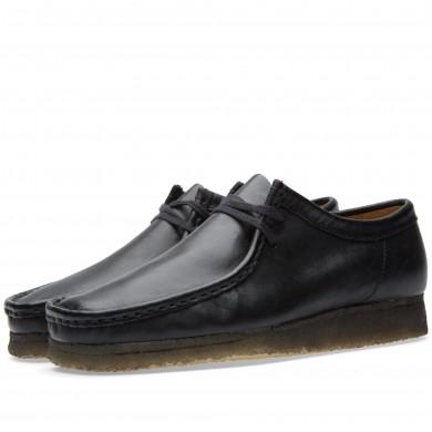 Clarks Originals Wallabee Black Leather