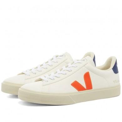 Veja Campo Sneaker White, Orange Fluo & Cobalt