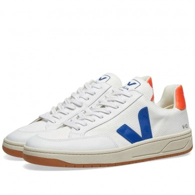 Veja V-12 Mesh Sneaker White, Orange & Blue