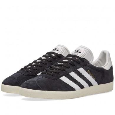 Adidas Gazelle Core Black, Vintage White & Gold