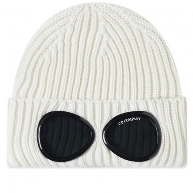 C.P. Company Goggle Beanie Gauze White