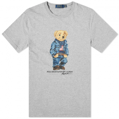 Polo Ralph Lauren Trucker Bear Tee Andover Heather
