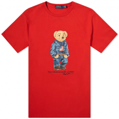 Polo Ralph Lauren Trucker Bear Tee Red