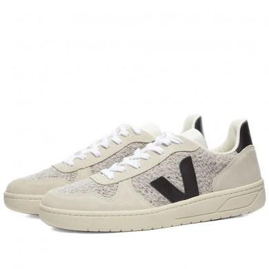 Veja V-10 Sneaker Flannel Snow Black