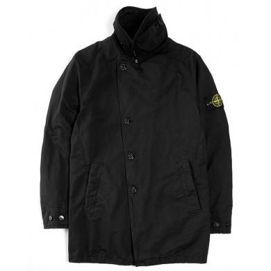 Stone Island 42149 David-TC with Primaloft® Insulation Technology Short Trench Coat Black