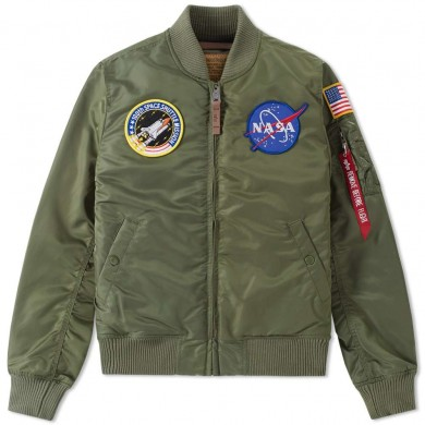 Alpha Industries Flightjacket MA-1 VF Nasa Sage Green