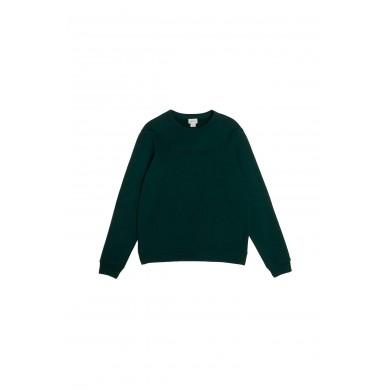 Woolrich Luxury Crew Neck Sweatshirt Dark Holly Green