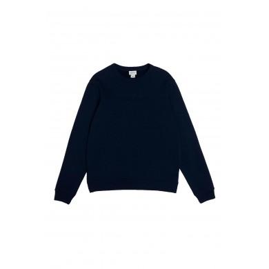 Woolrich Luxury Crew Neck Sweatshirt Melton Blue