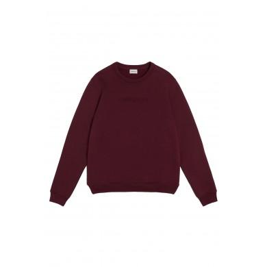 Woolrich Luxury Crew Neck Sweatshirt Burgundy