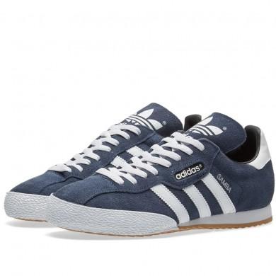 Adidas Samba Super Suede Navy & White