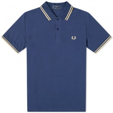 Fred Perry Reissues Original Twin Tipped Polo French Navy & Champagne