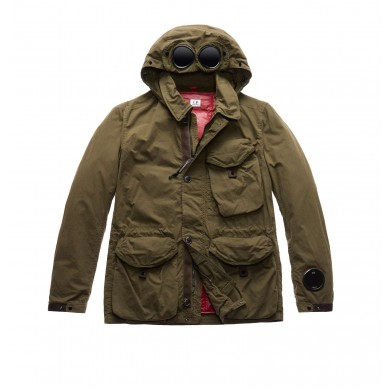C.P. Company Double-Dyed 50 Fili Goggle Jacket Olive Night