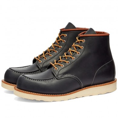"Red Wing 8859 Heritage Work 6"" Moc Toe Boot Navy Portage"
