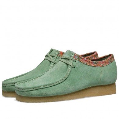Clarks Originals x Stussy Wallabee Green Multi