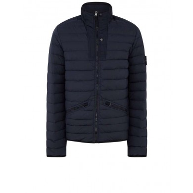 Stone Island 43825 Loom Woven Down Chambers Stretch Nylon-TC Blue
