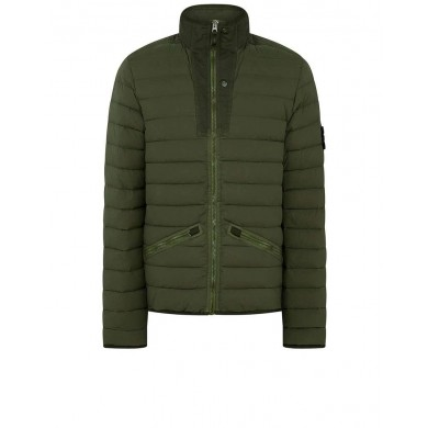 Stone Island 43825 Loom Woven Down Chambers Stretch Nylon-TC Olive