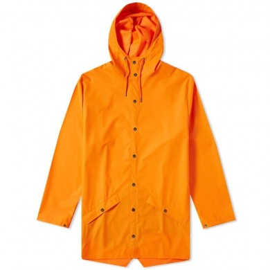 Rains Long Jacket Fire Orange
