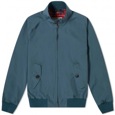 Baracuta G9 Harrington Jacket Blue Lake