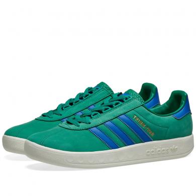 Adidas Trimm Trab Bold Green, Blue & Cream White