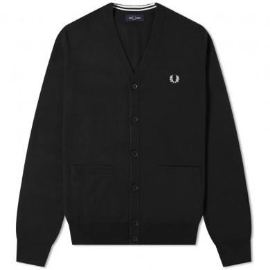 Fred Perry Authentic Merino Cardigan Black