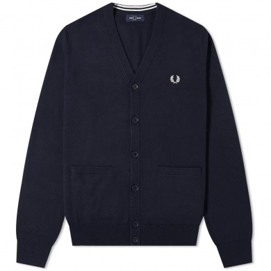 Fred Perry Authentic Merino Cardigan Navy