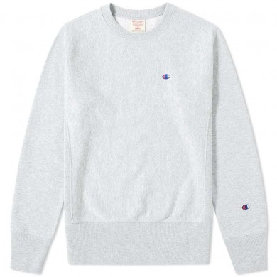 Champion Reverse Weave Classic Crew Sweat Grey Marl