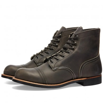 """Red Wing 8086 Heritage 6"""" Iron Ranger Boot Charcoal Rough & Tough"""