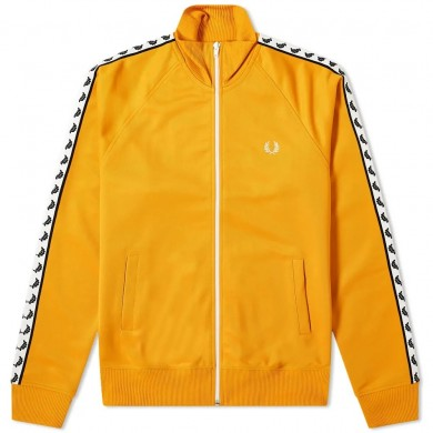 Fred Perry Authentic Taped Track Jacket Amber