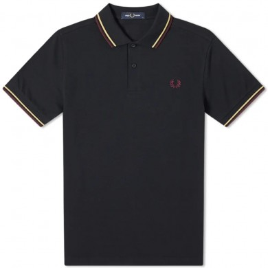 Fred Perry Slim Fit Twin Tipped Polo Navy, Champ & Mahogany
