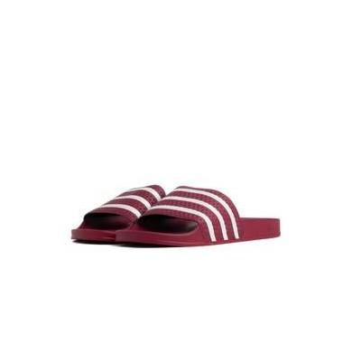 Adidas Adilette Burgundy & White