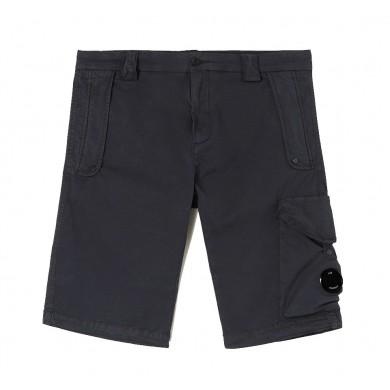 C.P. Company Gabardine Garment Dyed Shorts Total Eclipse