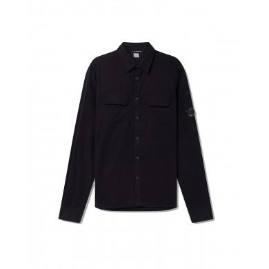 C.P. Company Gabardine Garment Dyed Lens Shirt Total Eclipse