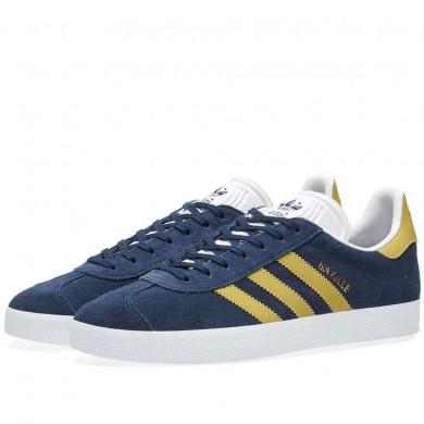 Adidas Gazelle Navy & Gold Metalic