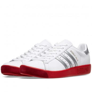 Adidas Forest Hills FTWR White, Silver Met. & Scarlet