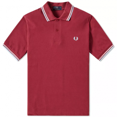 Fred Perry Reissues Original Twin Tipped Polo Maroo, White & Ice
