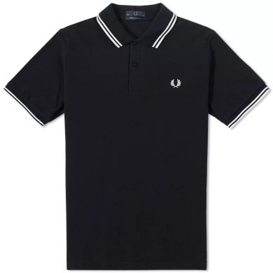 Fred Perry Reissues Original Twin Tipped Polo Black & White
