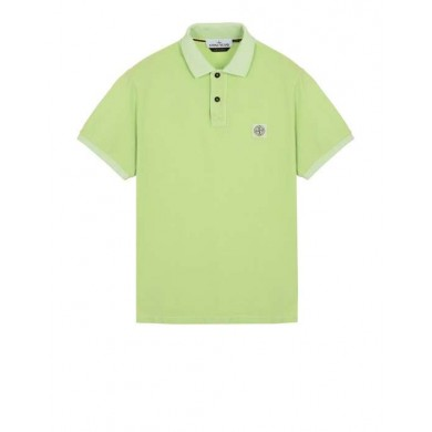 Stone Island 22S67 Pigment Dyed Polo Light Green