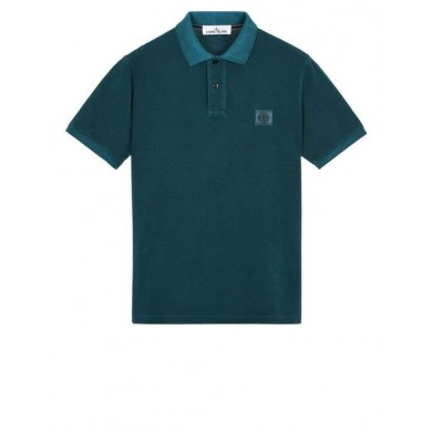 Stone Island 22S67 Pigment Dyed Polo Teal
